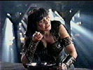 A seriously whipped Xena ... no not that kind of whipped