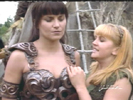 I guess Gabrielle just needed some extra leverage to pull herself up Xena's toned ... leather-clad ... soft ... supple ... um ... what was I saying?